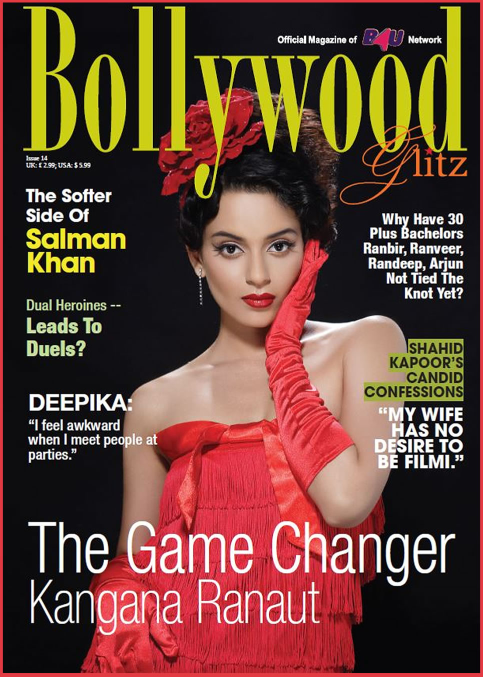 THE COVER STORY WITH KANGANA RANAUT BRINGS IN THE ISSUE NO. 14 OF BOLLYWOOD GLITZ!
