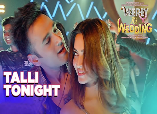 Talli Tonight song of film Veerey Ki Wedding at No. 2 from 2nd March to 8th March!