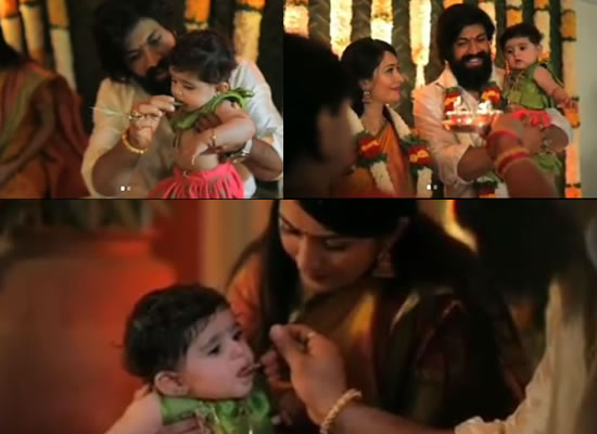 South stars Yash and Radhika to reveal their baby daughter's name!