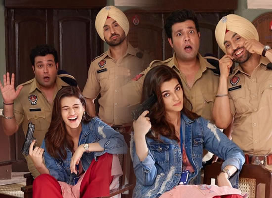 Kriti Sanon to share the 'many moods' of co-stars Diljit Dosanjh and Varun Sharma!