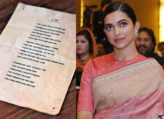 Deepika Padukone shares a poem she penned in 7th grade!