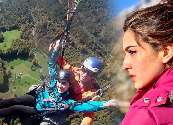 Sara Ali Khan's sun-kissed photo from the sets of Simmba in Switzerland!