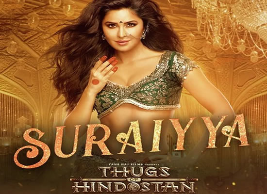 Suraiyya song of film Thugs of Hindostan at No. 2 from 2nd November to 8th November!