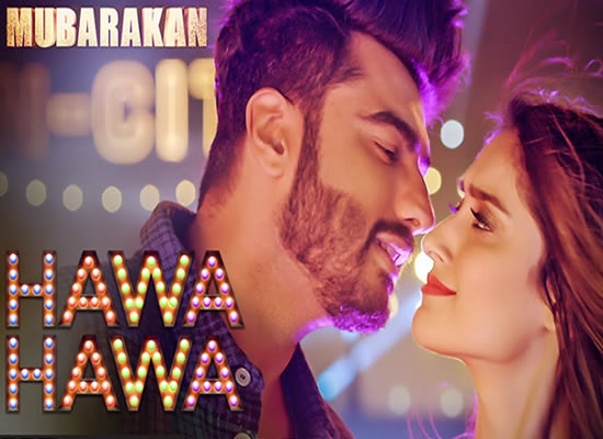Hawa Hawa song of film Mubarakan at No. 2 from 4th Aug to 10th Aug!