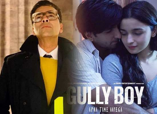 Gully Boy is a masterpiece of modern times, says Karan Johar!