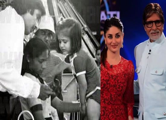 Big B to share a cute photo of baby Kareena from the sets of 1983-film Pukar!