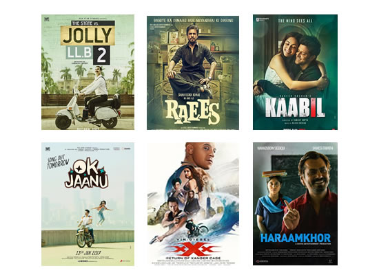 Box Office for the latest week -  14th February, 2017