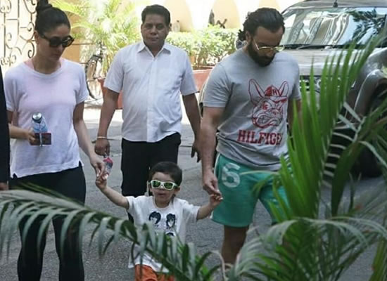 Taimur's enjoyable moments with mom Kareena and dad Saif Ali Khan!