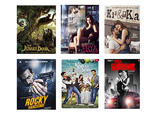 Box Office for the latest week -  14th April, 2016