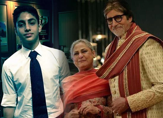 Big B and Jaya Bachchan are mighty impressed with grand-son Agastya's new endeavor!