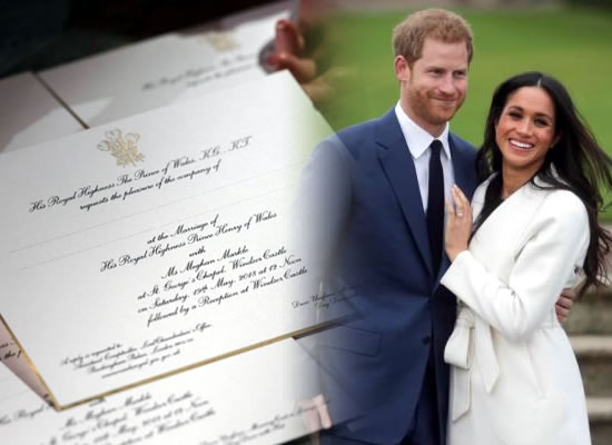 A first look of Prince Harry and Meghan Markle's wedding invite!