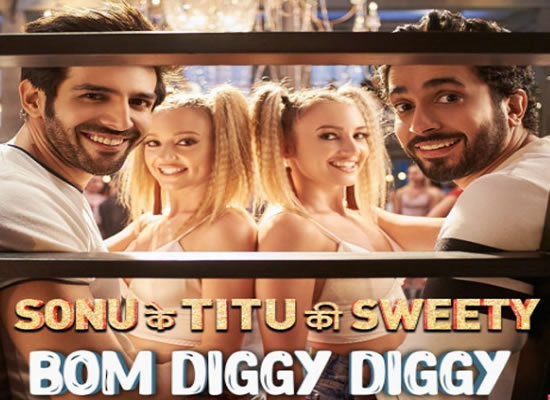 Bom Diggy Diggy Song of film Sonu Ke Titu Ki Sweety at No. 4 from 13th April to 19th April!
