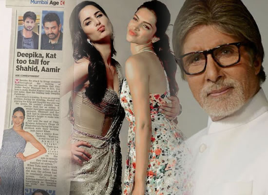 Big B has a comical take on Katrina-Deepika being taller than their male co-stars!