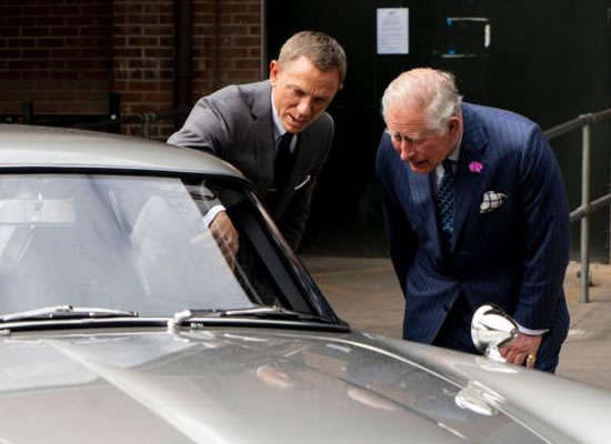 Prince Charles bonds with Daniel Craig over expensive cars on the sets of Bond 25!