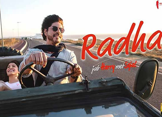 Radha song of film Jab Harry Met Sejal at No. 4 from 4th Aug to 10th Aug!
