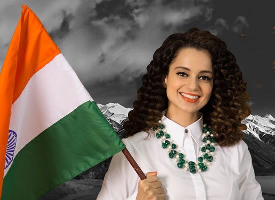 Kangana Ranaut's apt reply on the forced patriotism!
