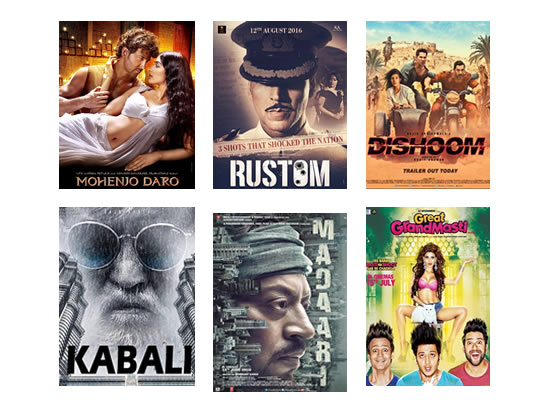 Box Office for the latest week -  17th August, 2016