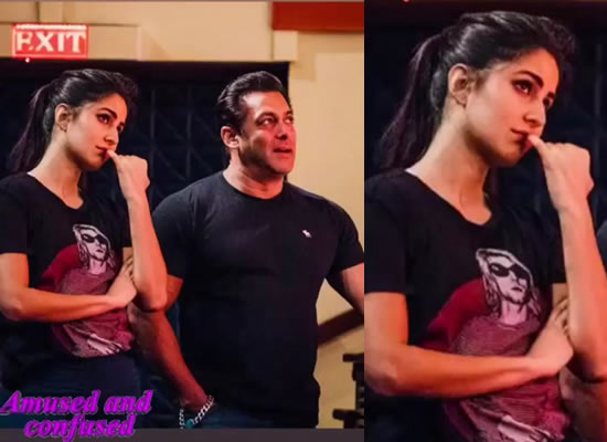 Katrina shares a lovely snap with Salman from their rehearsal session!