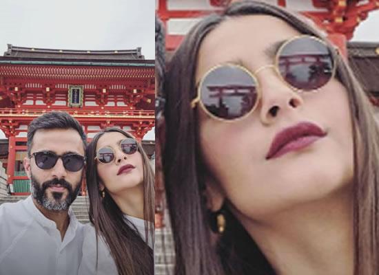Sonam K Ahuja's beautiful selfie with hubby Anand Ahuja from Japan!