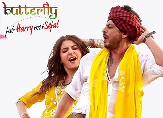 Butterfly song of film Jab Harry Met Sejal at No. 1 from 4th Aug to 10th Aug!