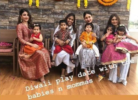 Star kids Taimur and Inaaya to celebrate Diwali at their playschool with their moms!