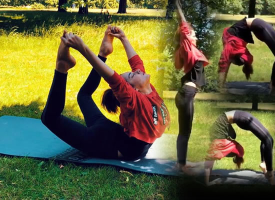 Kangana Ranaut's amazing asanas on International Yoga Day!