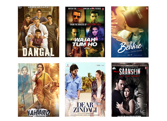 Box Office for the latest week -  16th January, 2017