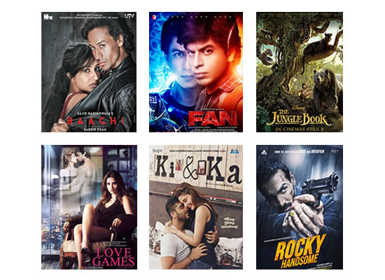 Box Office for the latest week -  4th May, 2016