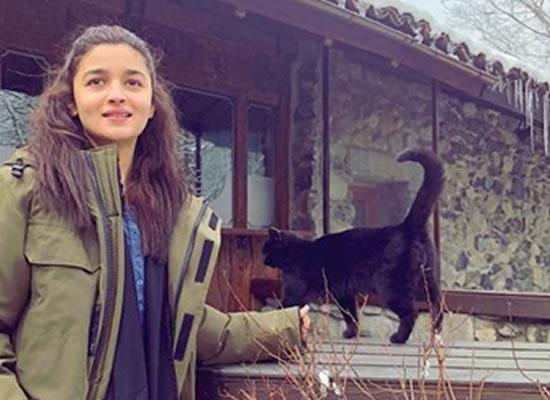 Alia Bhatt makes a new friend in Bulgaria during Brahmastra's shoot!