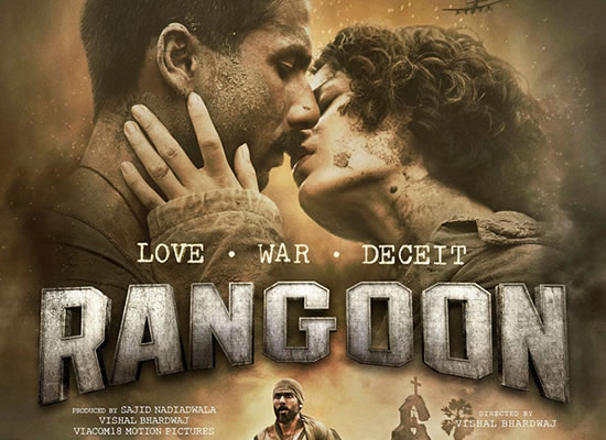 Rangoon's songs are tuneful and enjoyable with peculiar elements of music maestro Vishal Bhardwaj an