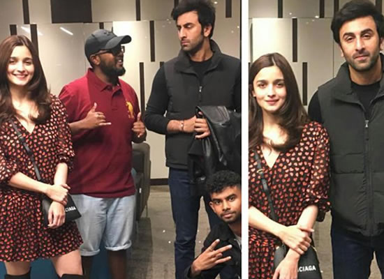 Ranbir and Alia's funny time with fans at the wrap up party of Brahmastra!