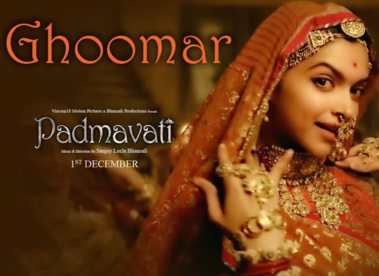 Ghoomar song of film Padmavati at No. 1 from 10th Nov to 16th Nov!