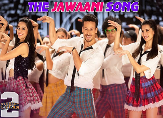 The Jawaani song of film Student of the Year 2 at no. 4 from 31st May to 6th June!