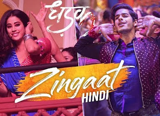 Zingaat song of film Dhadak at No. 4 from 12th April to 18th April!