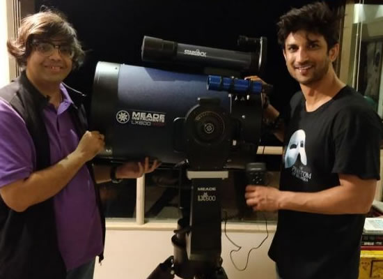 Sushant turns a proud owner of one of the most-advanced telescopes in the world!