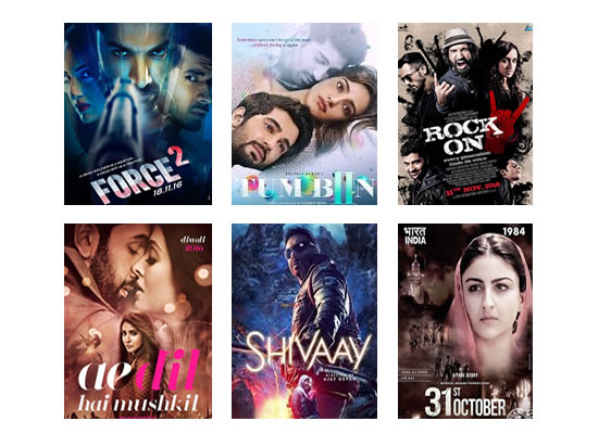 Box Office for the latest week -  21st November, 2016