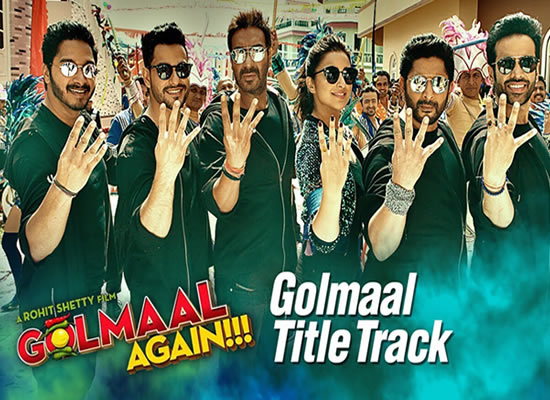Golmaal (Title) song of film Golmaal Again at No. 2 from 29th Sept to 5th Oct!