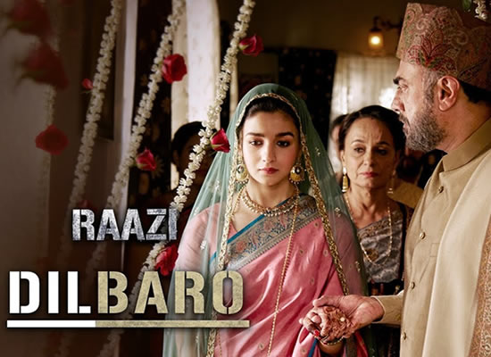 Dilbaro song of film Raazi at No. 2 from 11th May to 17th May!