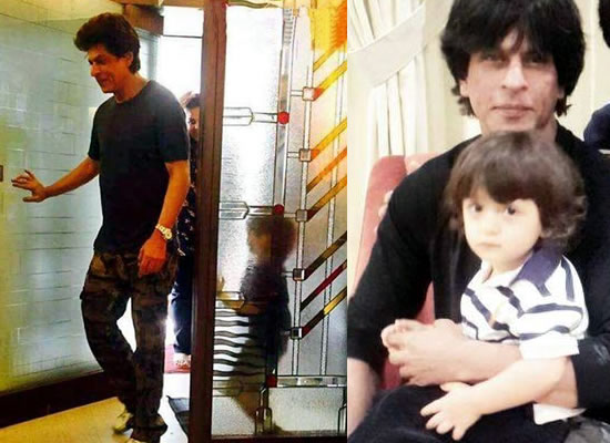 SRK visits a dentist's clinic along with AbRam!