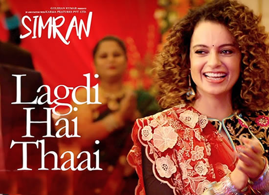 Lagdi Hai Thaai song of film Simran at No. 2 from 1st Sept to 7th Sept!