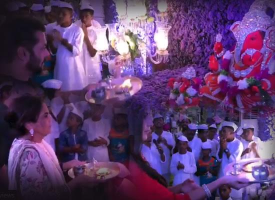 Katrina Kaif performs Ganesh aarti with Salman and family at Arpita Khan Sharma's house!