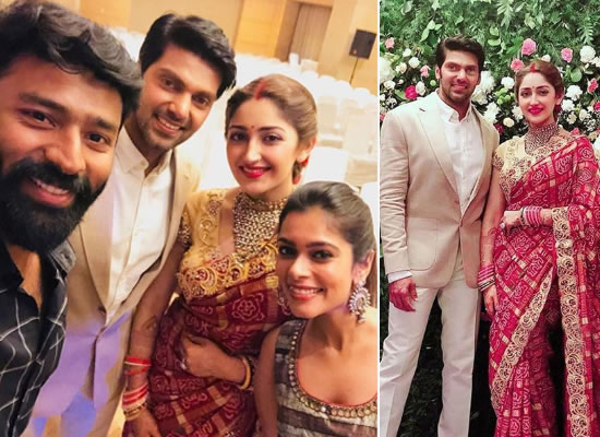 Arya and Sayyeshaa Saigal's traditional presence at their wedding reception!