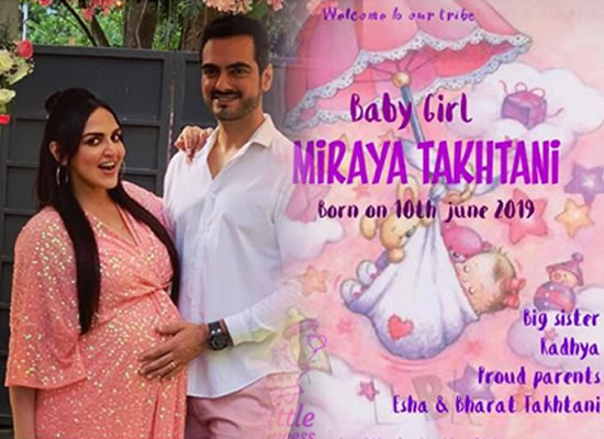 Esha Deol and Bharat Takhtani welcome their second child!
