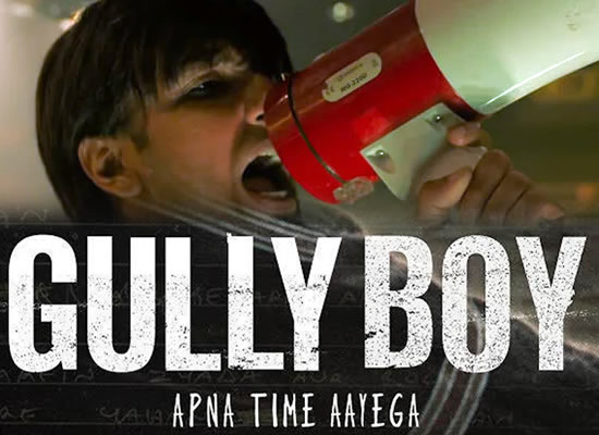 Apna Time Aayega song of film Gully Boy at No. 1 from 15th Feb to 21st Feb!