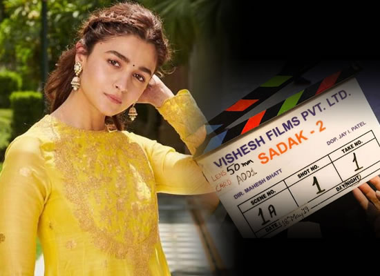Alia Bhatt to share a photo of the clapboard of Sadak 2 with an inspiring message!