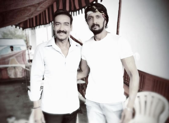 Kiccha Sudeep's fan boy moment with superstar Ajay Devgn!