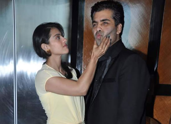 Karan Johar attends Kajol's birthday party!