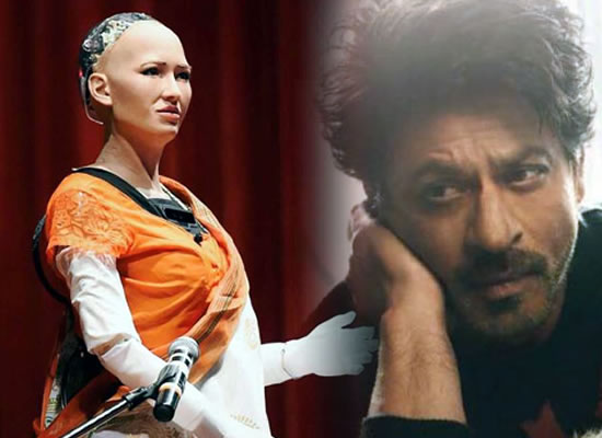 SRK publicly declares his love for robot Sophia!