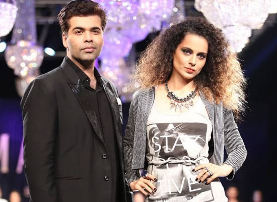 Kangana and Karan Johar to resolve differences on a reality show?