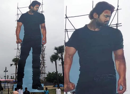 Prabhas' 70 ft tall cut out for Saaho's pre-release event!